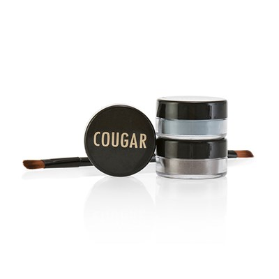 Cougar Mineral Eye Shadow Trio and Brush Kit 3 x 1g