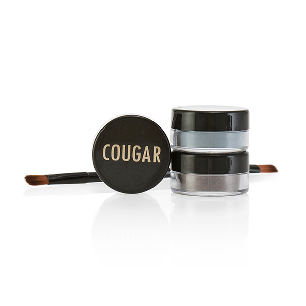 Cougar Mineral Eye Shadow Trio and Brush Kit 3 x 1g Blue Smokey