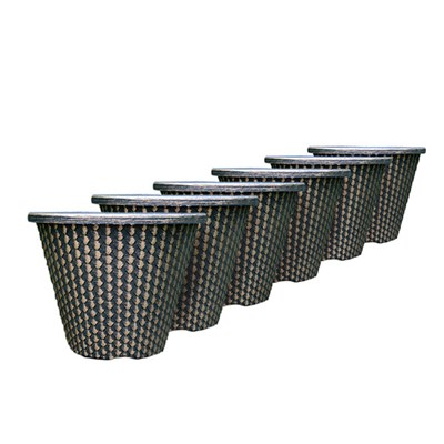 Set of 6 Pinecone Planters 27cm (11in)