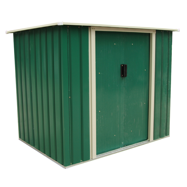 Image of Bentley Garden 5Ft X 3Ft Metal Storage Chest Storette Small Shed - Green 367865