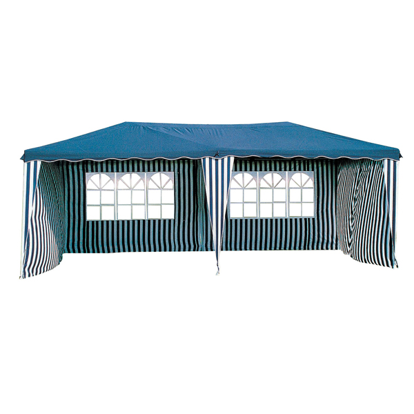 Charles Bentley Garden 6X3M Gazebo Marquee Wedding Party Tent Showerproof - Blue / Green Blue 1