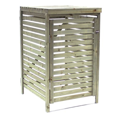 Bentley Garden Wooden Outdoor Wheelie Bin Cover Storage Cupboard Unit - Single