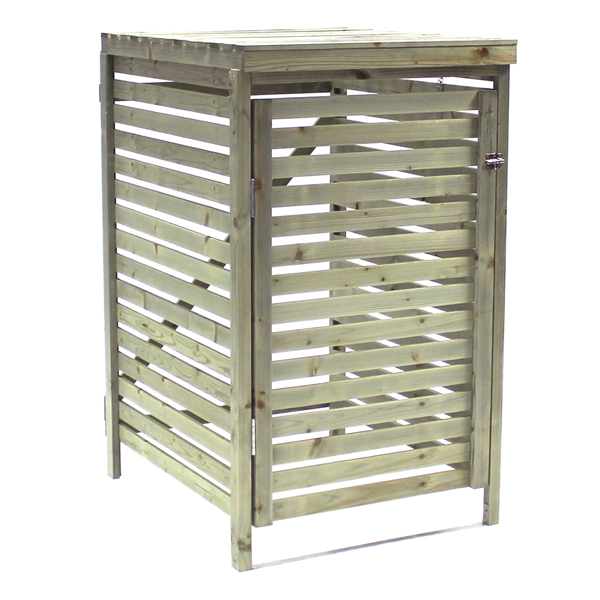 Bentley Garden Wooden Outdoor Wheelie Bin Cover Storage Cupboard Unit - Single No Colour