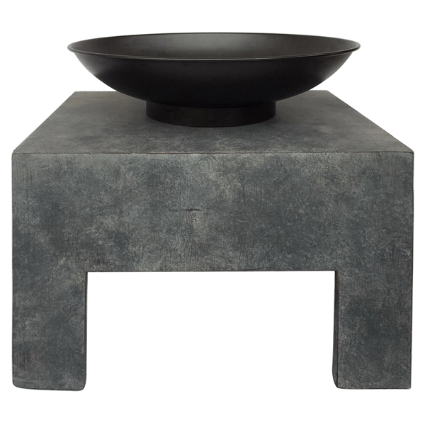 Charles Bentley Metal Fire Bowl with Square Stand No Colour