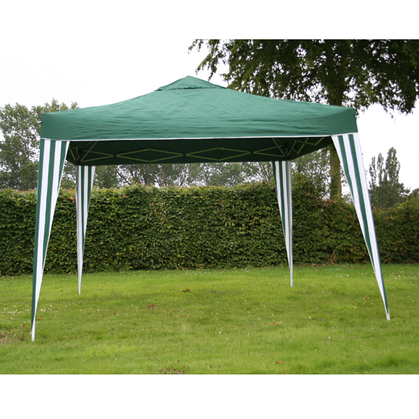 Bentley 3M X 3M Foldable Pop Up Gazebo Marquee Tent For Camping  Blue Green White 367923