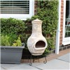 Bentley Garden Outdoor Medium Natural Clay Chimenea Chiminea Patio Heater No Colour
