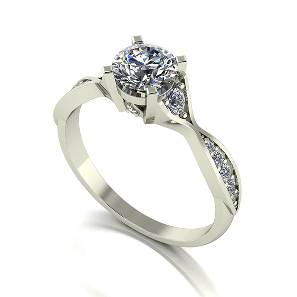 Moissanite 9ct Gold 1.00ct eq Limited Edition Anniversary Fancy Solitaire Ring White Gold