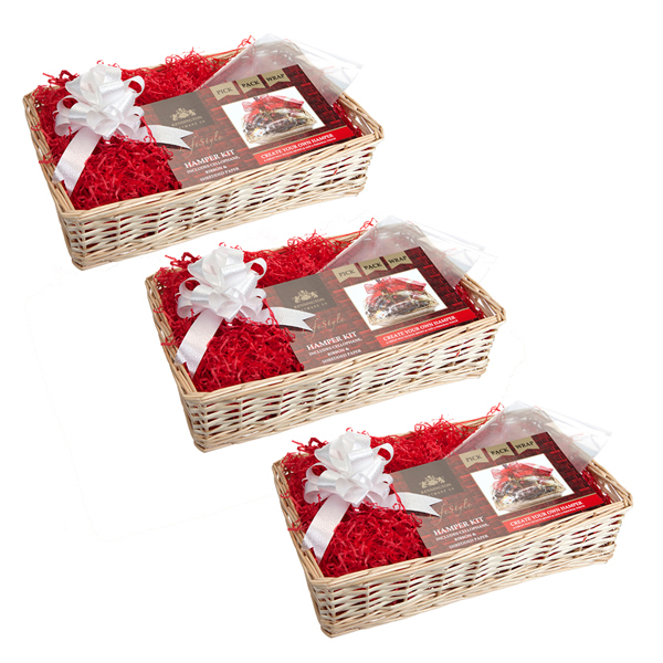 3 for 2 Kensington Giftware Co. Cream Wood Weave Hamper Kit No Colour