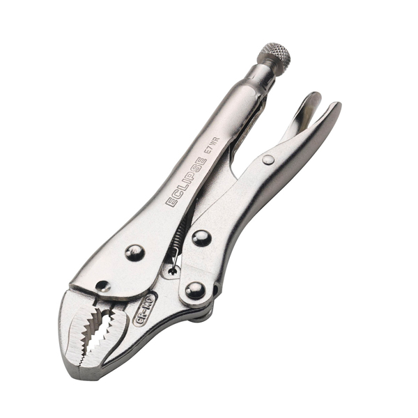 Spear and Jackson Eclipse 7in Curved Jaw Locking Pliers with Wire Cutter No Colour