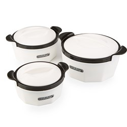 Cookshop Set of 3 Insulated Dishes - Fiona Range
