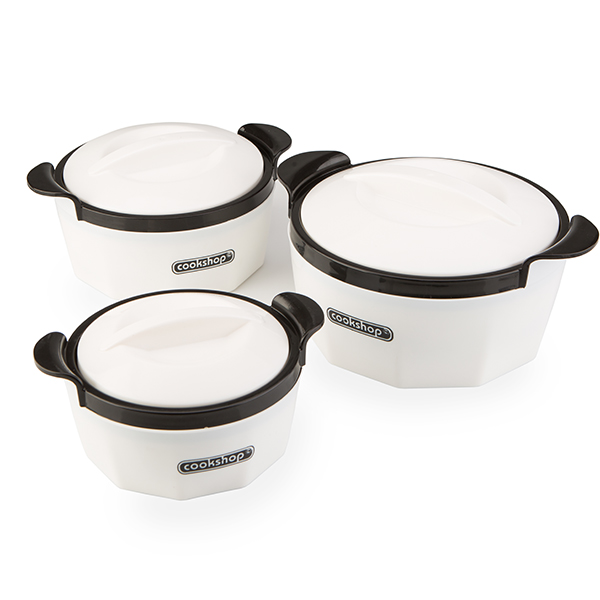 Cookshop Set of 3 Insulated Dishes - Fiona Range No Colour