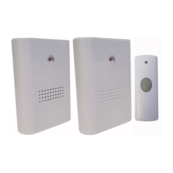 Uni-Com Twin Pack of Wire-Free Portable Door Chimes No Colour