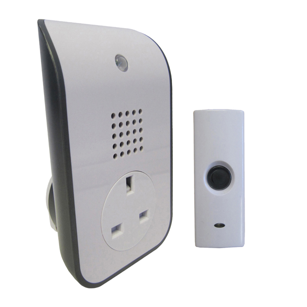 Uni-Com Wire-Free Curve Plug Through Door Chime No Colour