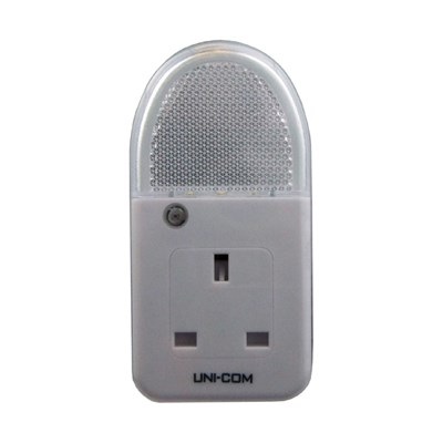 Uni-Com Soft White Plug Through Night Light