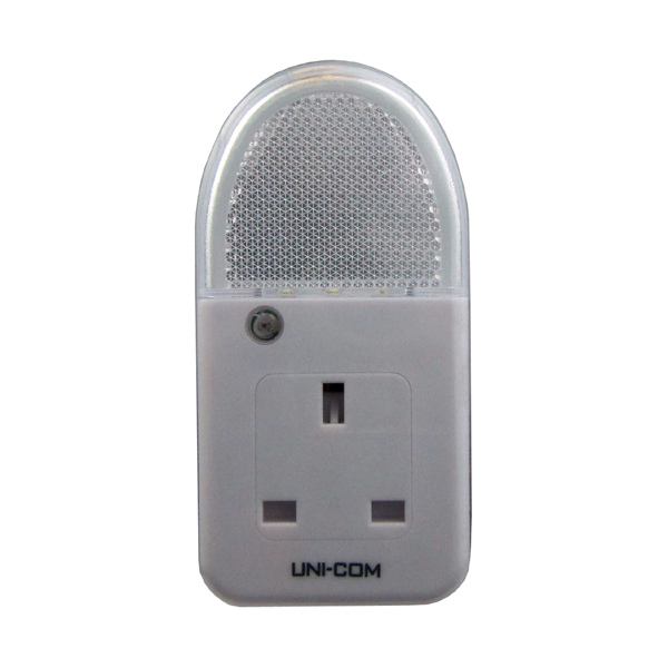 Uni-Com Soft White Plug Through Night Light No Colour