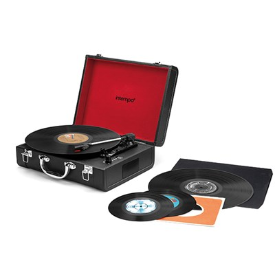 Valise Audio 3 Speed Turntable with Bluetooth Function, Inbuilt Speakers and Rechargeable Battery