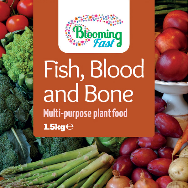 Blooming Fast Fish Blood and Bone Organic Fertiliser 1.5kg Tub No Colour