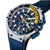 Brera Orologi Gents Gran Turismo Chronograph Watch with Silicon Strap Navy