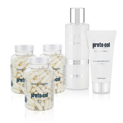 Protocol 90 days of Verisol Collagen 3 x 120 cap jars Microdermabrasion 60ml Sexy Skin Body Wash 200ml
