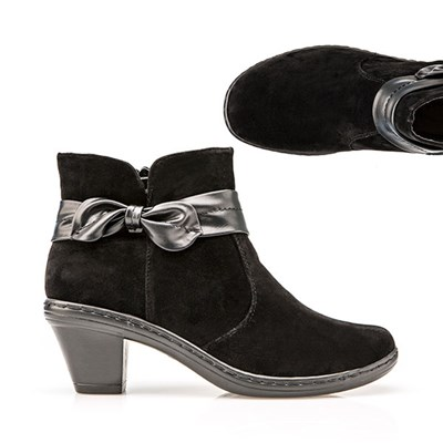 Cushion Walk Suedette Heeled Ankle Boot