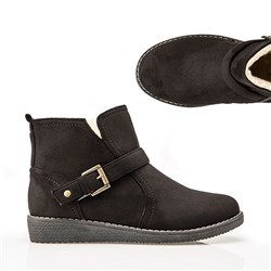 Cushion Walk Suedette Buckle Ankle Boot