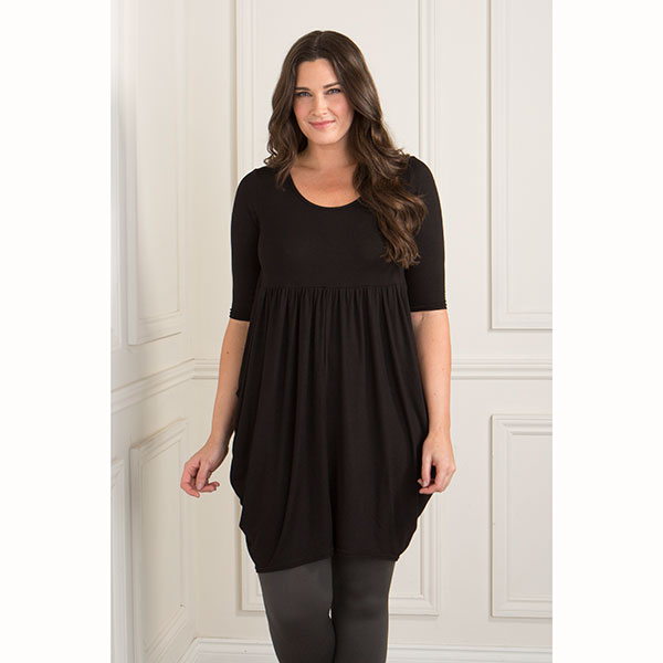 Styled By Empire Longline Tunic Black