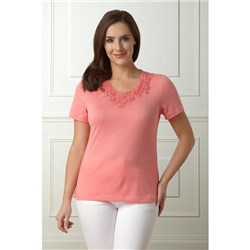 Lavitta Lace Trim T Shirt