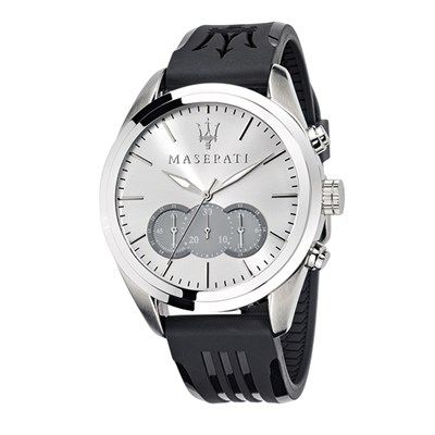 Maserati Gents Traguardo Chronograph Watch with Silicone Strap