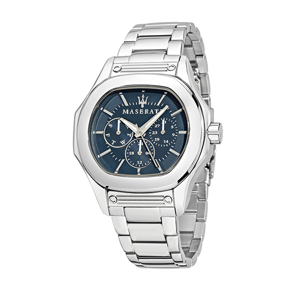 Maserati Gents Fuoriclasse Chronograph Watch with Stainless Steel Bracelet Strap Blue