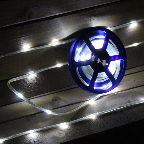 5m White Tape Light Outdoor/Indoor Use No Colour