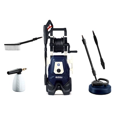 Spear and Jackson 2000w Pressure Washer with Turbo Lance, Vario Lance, Patio Cleaner, Super Foamer, Wash Brush and 3 Year Warranty Upon Registration