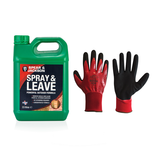 Spear and Jackson Spray and Leave 2.5L with Gloves No Colour