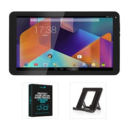 HANNspree 10.1 inch Quad Core Tablet with 8GB Storage, Android 5.1, HDMI Output, 2 Year Warranty, Security Software and Tablet Stand
