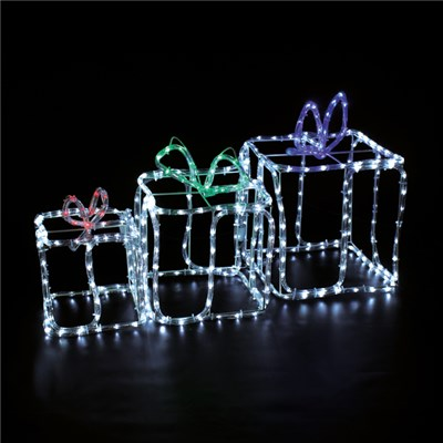 3 Gift Boxes Rope Light Outdoor Use