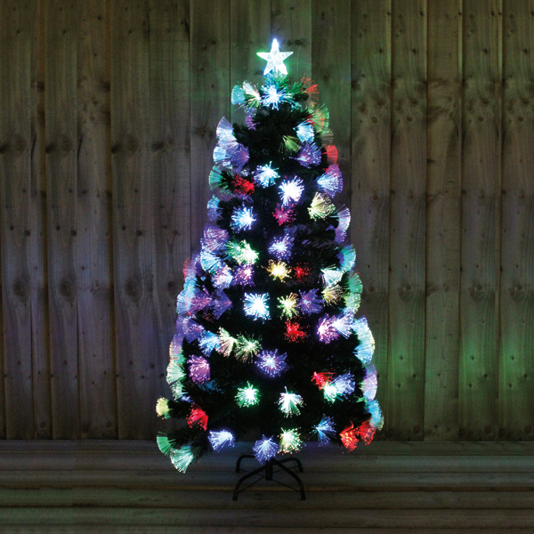 6ft Green Tree with Multi Fibre Optic Indoor Use No Colour