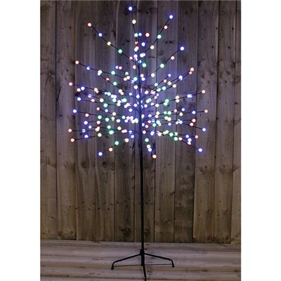 6FT 200 LED Blue White Berry Tree Indoor or Outdoor Use