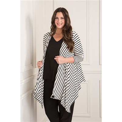 Nicole Stripe 3 in 1 Cardigan