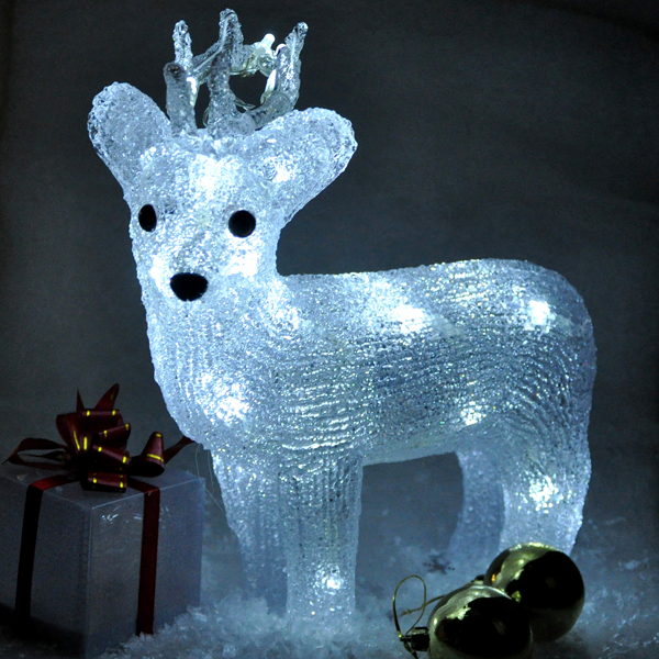 Battery Operated Crystal Reindeer (Indoor Use Only) No Colour