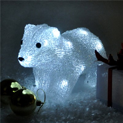 Battery Operated Crystal Polar Bear (Indoor Use Only)