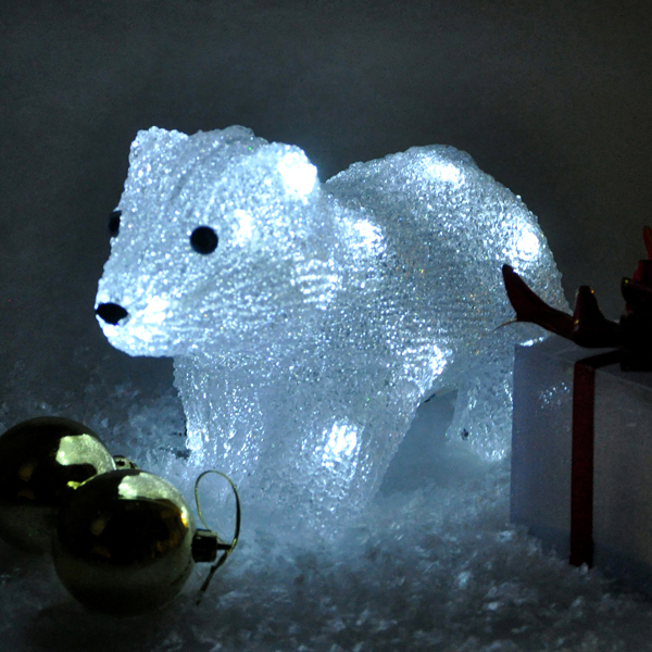 Battery Operated Crystal Polar Bear (Indoor Use Only) No Colour