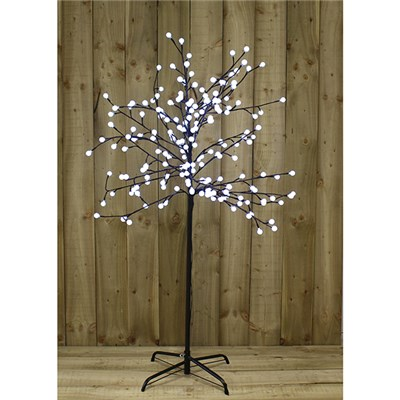 5ft LED White Berry Tree Outdoor or Indoor Use