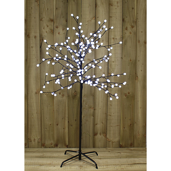 5ft LED White Berry Tree Outdoor or Indoor Use No Colour