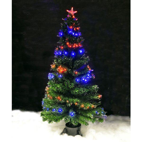 6FT LED Fibre Optic Tree with Star Indoor Use No Colour