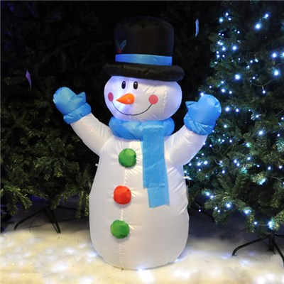 4FT Inflatable Snowman Indoor/Outdoor Use