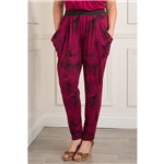 Nicole Printed Drape Pocket Trouser