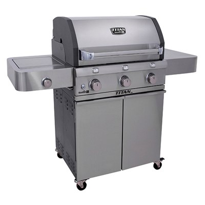 Char-Broil Titan 3 Burner Stainless Steel BBQ