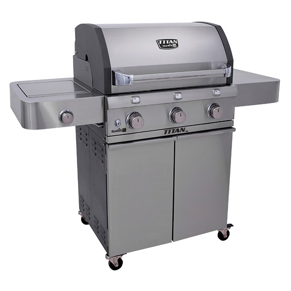 Char-Broil Titan 3 Burner Stainless Steel BBQ No Colour