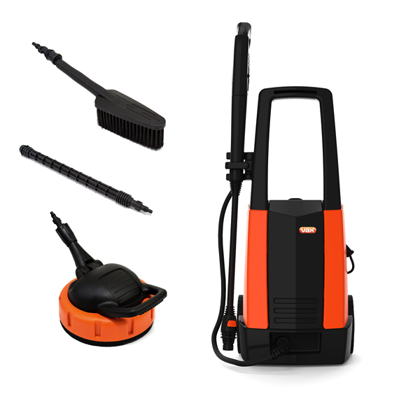 Vax P86-P2- P 2000w Pressure Washer with Patio Cleaner and Wash Brush No Colour
