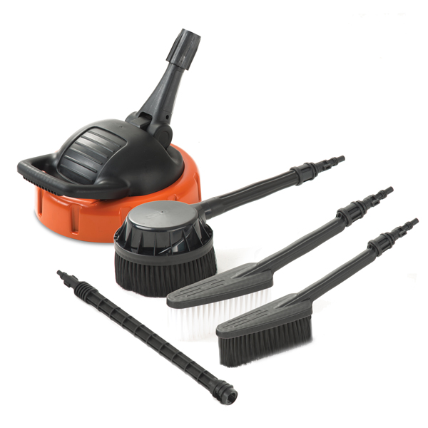 Vax Total Outdoor Cleaning Kit - Includes Patio Cleaner, Wash Brush, Rotating brush and Outdoor Brush No Colour