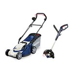Spear and Jackson 1200w Electric Lawnmower with 450w Grass Trimmer